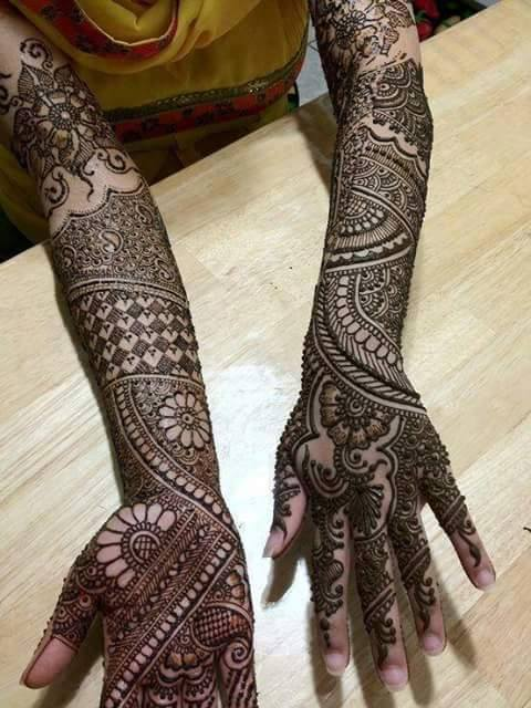 Bridal Designs for Full Hands 9