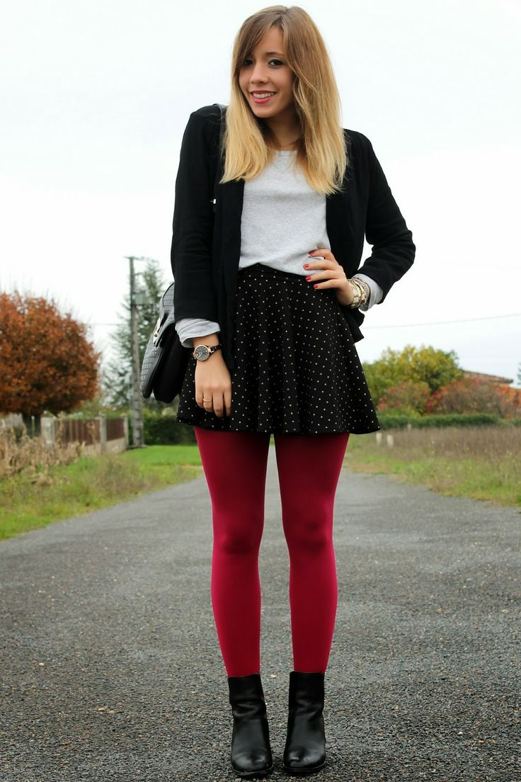 The Ultimate Red Tights Inspiration - Fashionmylegs  The -1004