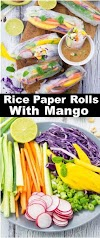 #RICE #PAPER #ROLLS #WITH #MANGO AND #MINT
