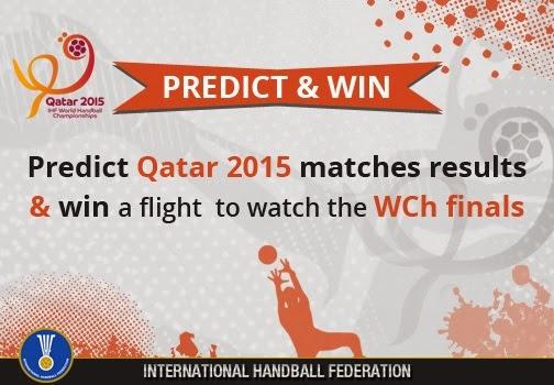 Concurso para viajar gratis al mundial de handball de Qatar2015