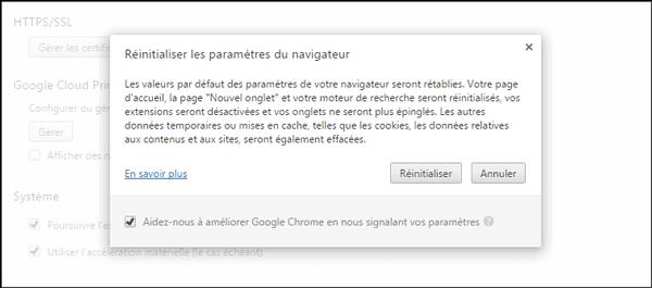 استعادة الإعدادات الافتراضية للمتصفح