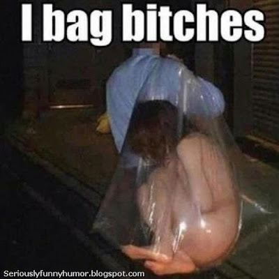 Girl being carried in a plastic see through bag - I bag bitches | #Funny