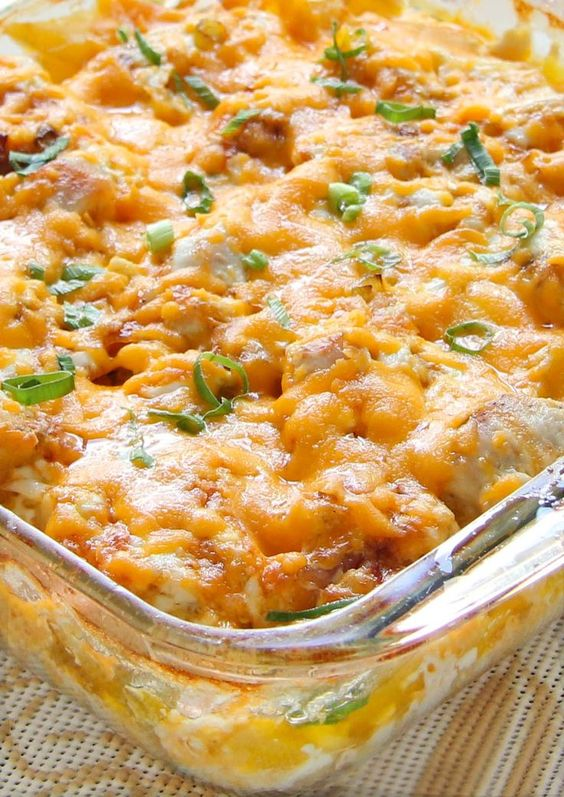 Try out this Loaded Baked Chicken Potato Casserole recipe with smoked bacon, crispy potato wedges, perfectly roasted chicken and lots of sharp cheddar cheese. It is so delicious and packed with flavor!