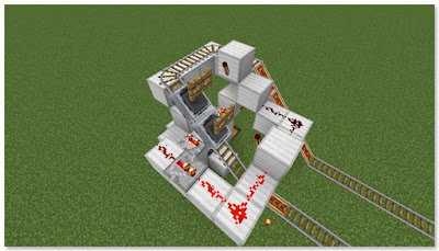Minecraft トロッコ輸送 積み込み駅 作動状況③
