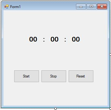 StopWatch Using Visual Basic NET | Programming and Technology
