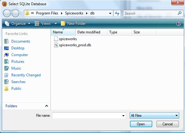 How to Delete Spiceworks Inventory form Database modify