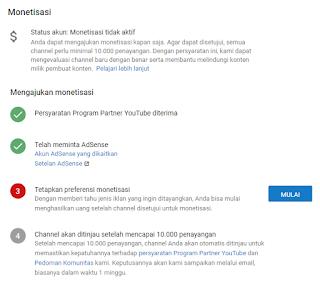 Cara Menghubungkan Akun Google adsense dengan Chanel Youtube Yang Baru