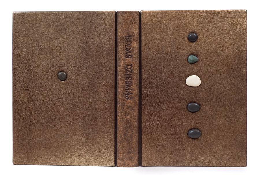 Brown And Green Color For Manuscript Or Printing Book Antiquarian & Collectible New Fashion Old Leather Binding