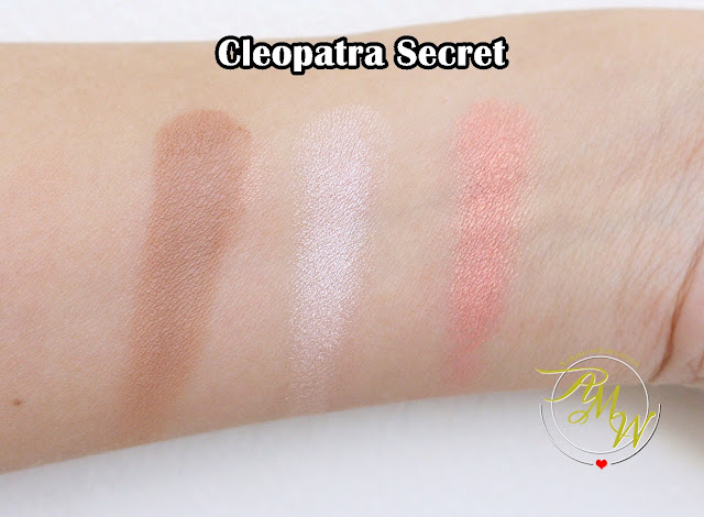 a swatch photo of Cathy Doll 3D Face Forward Contour Kit Review in shades Cleopatra Secret