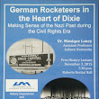 Public Talk: German Rocketeers in the Heart of Dixie 3 November 2015