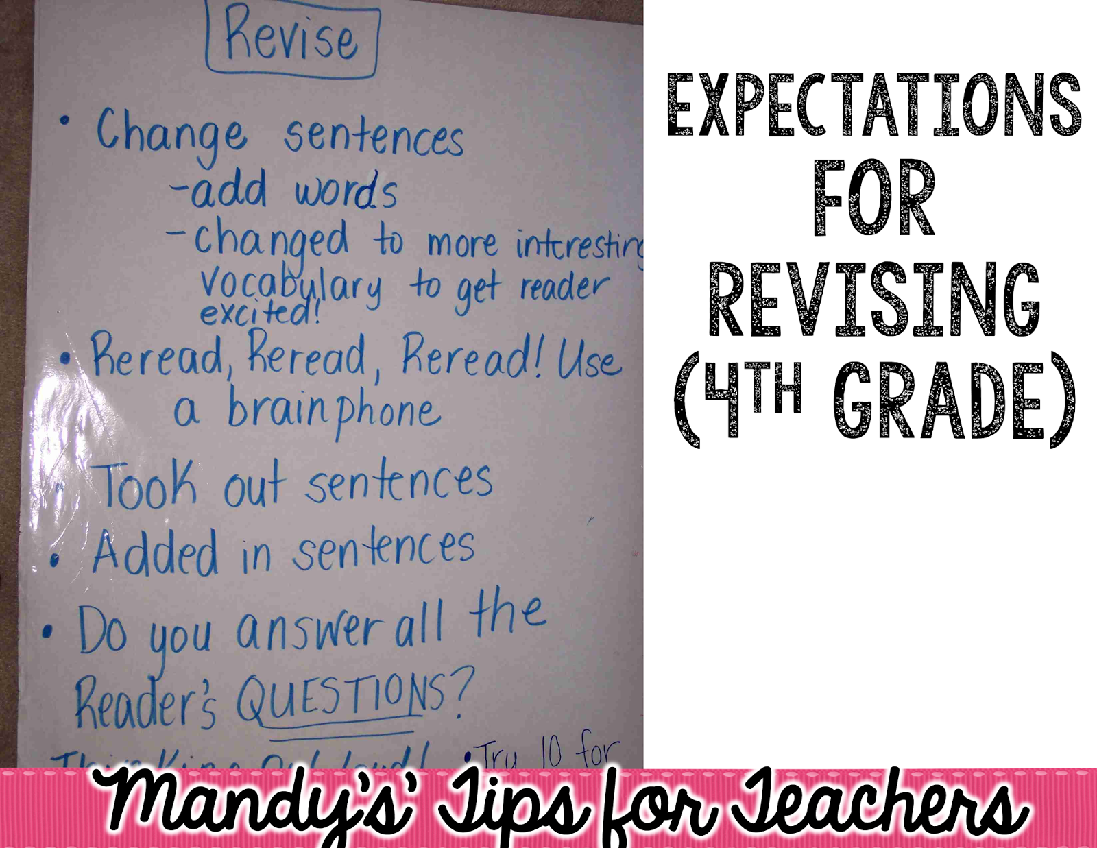 Taking The Pain Out Of Editing And Revising Mandy S Tips For Teachers