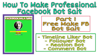 How To Create Reaction Bot Site For Facebook - 2019