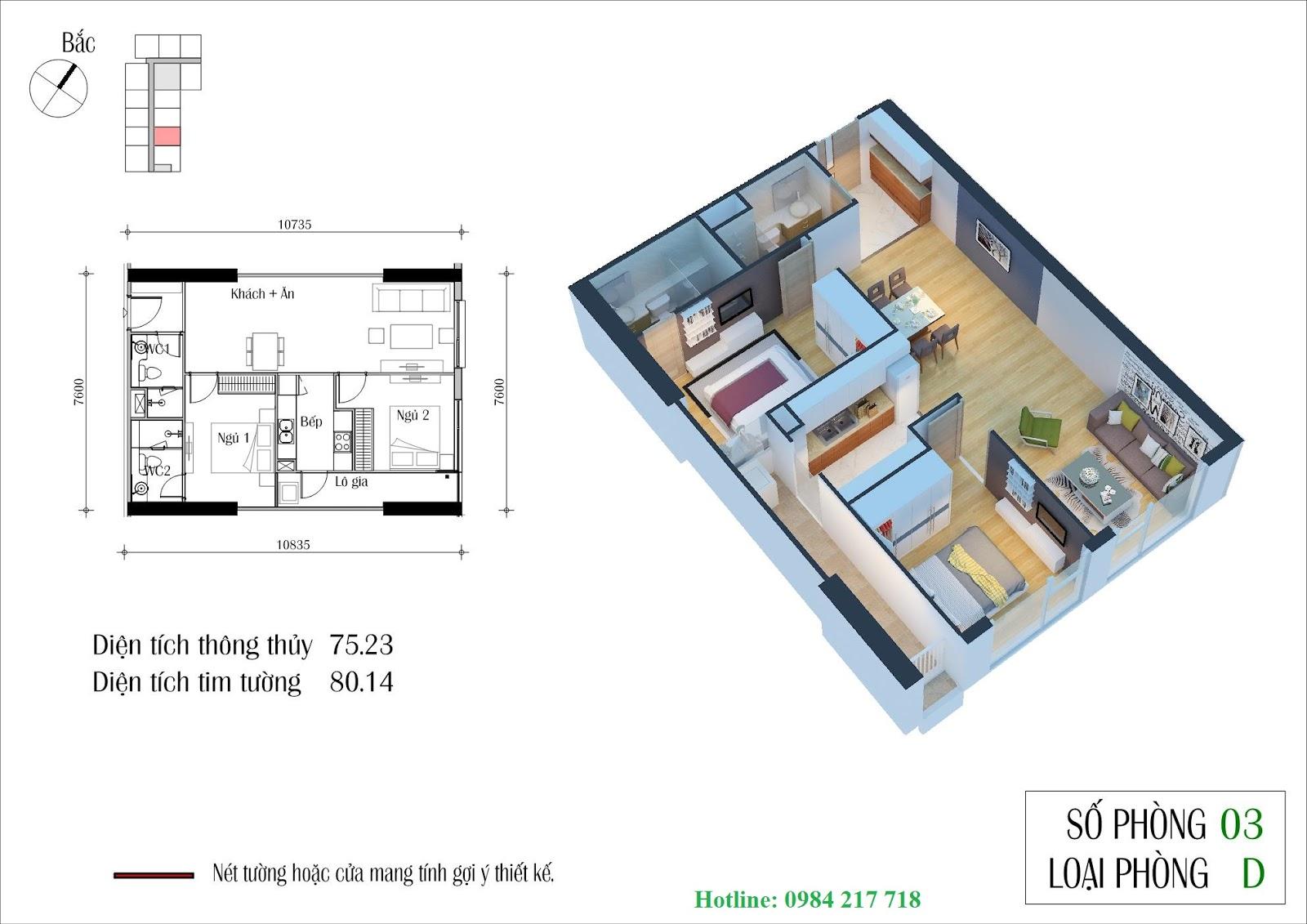 Sơ Đồ Mặt Bằng Tòa Eco Winter căn hộ 0703 du an ecogreen