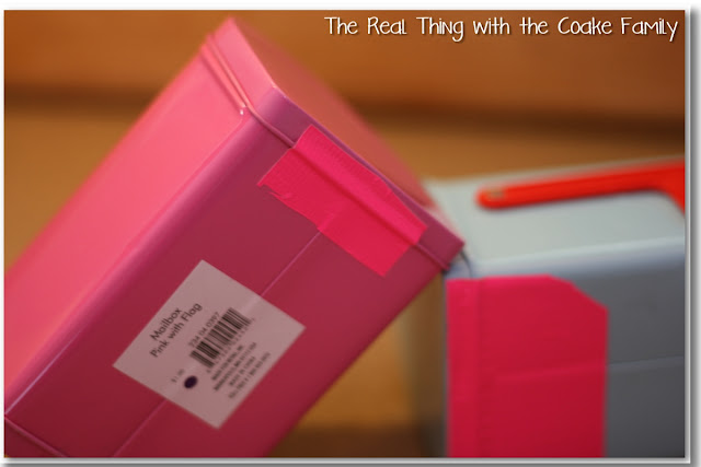 American Girl Craft ~ Cute, Easy and Inexpenisve Mailboxes for your doll! #AmericanGirl #Craft