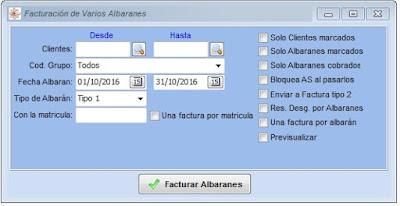Imagen del módulo de facturación del software para talleres mecánicos