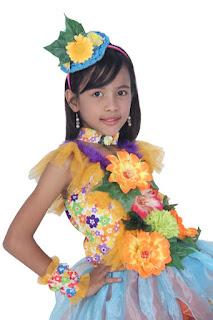 Flower-Costume-Raisya-Indonesian-Kids-Modelling-Bekasi