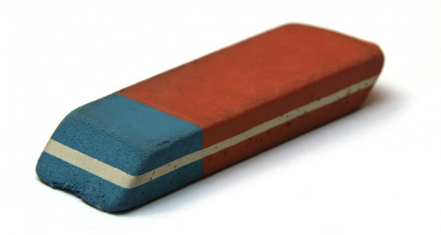 The Blue Part Of The Eraser