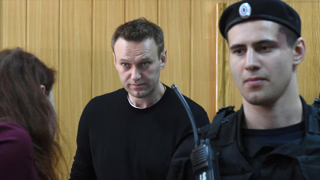 Policía rusa arresta a líder opositor por protesta no autorizada