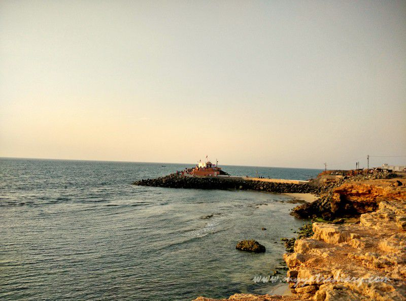 Sunset view of Bhadkeshwar Shiv Temple, Dwarka, Gujarat