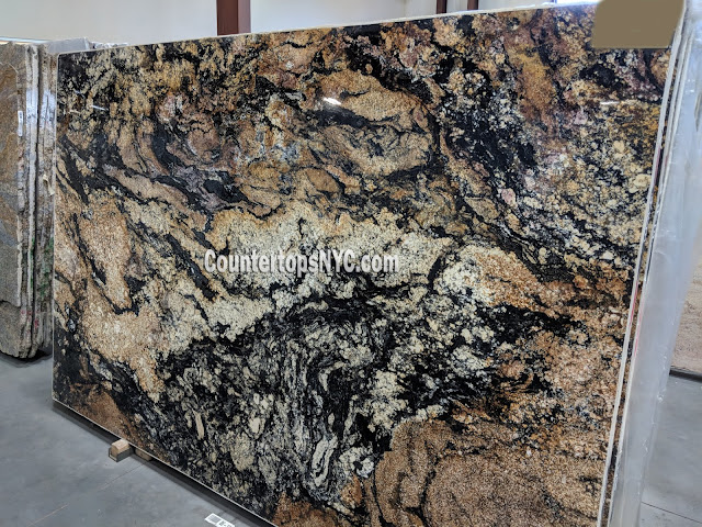 Magma Gold Granite Slab For Kitchen Countertops NYC