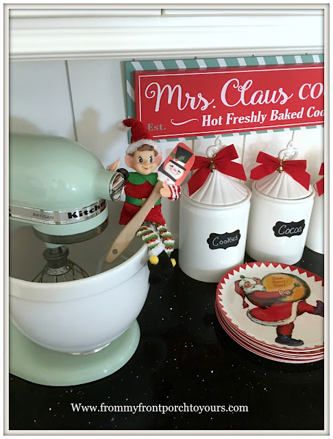 Farmhouse Christmas Kitchen-Vintage- Classic-Elf-From My Front Porch To Yours
