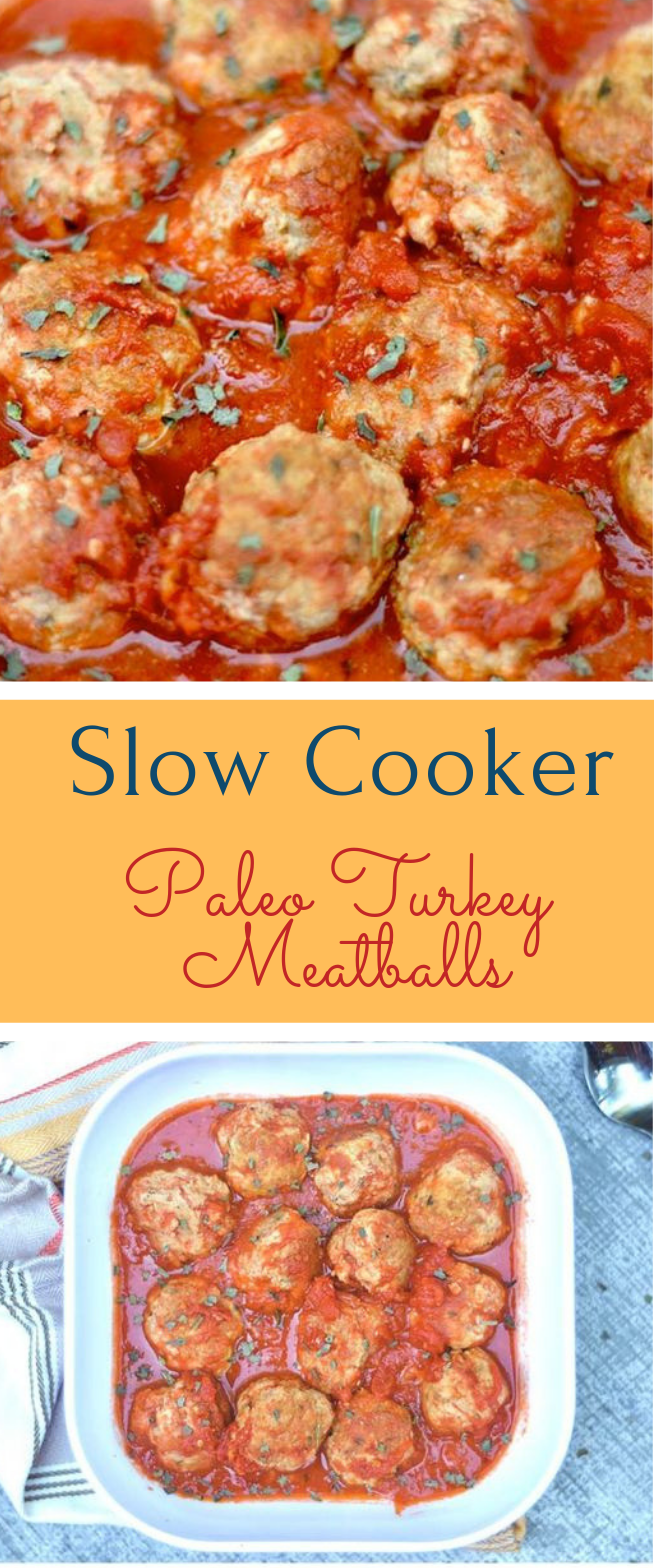 SLOW COOKER PALEO TURKEY MEATBALLS  #diet #healthydiet