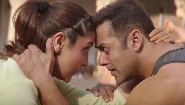 Anushka Sharma wrestling with Salman Khan in Sultan movie