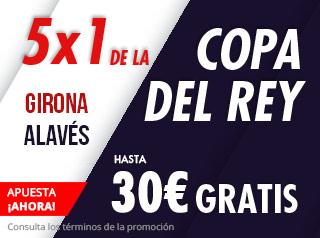 suertia promocion copa Girona vs Alavés 5 diciembre