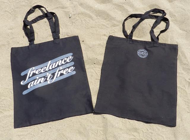 SpreadTheWordWear 'freelance ain't free tote bag
