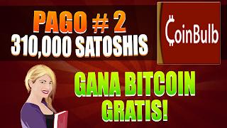 CoinBulb Segundo Pago Automático Recibido (310,000 Satoshis)