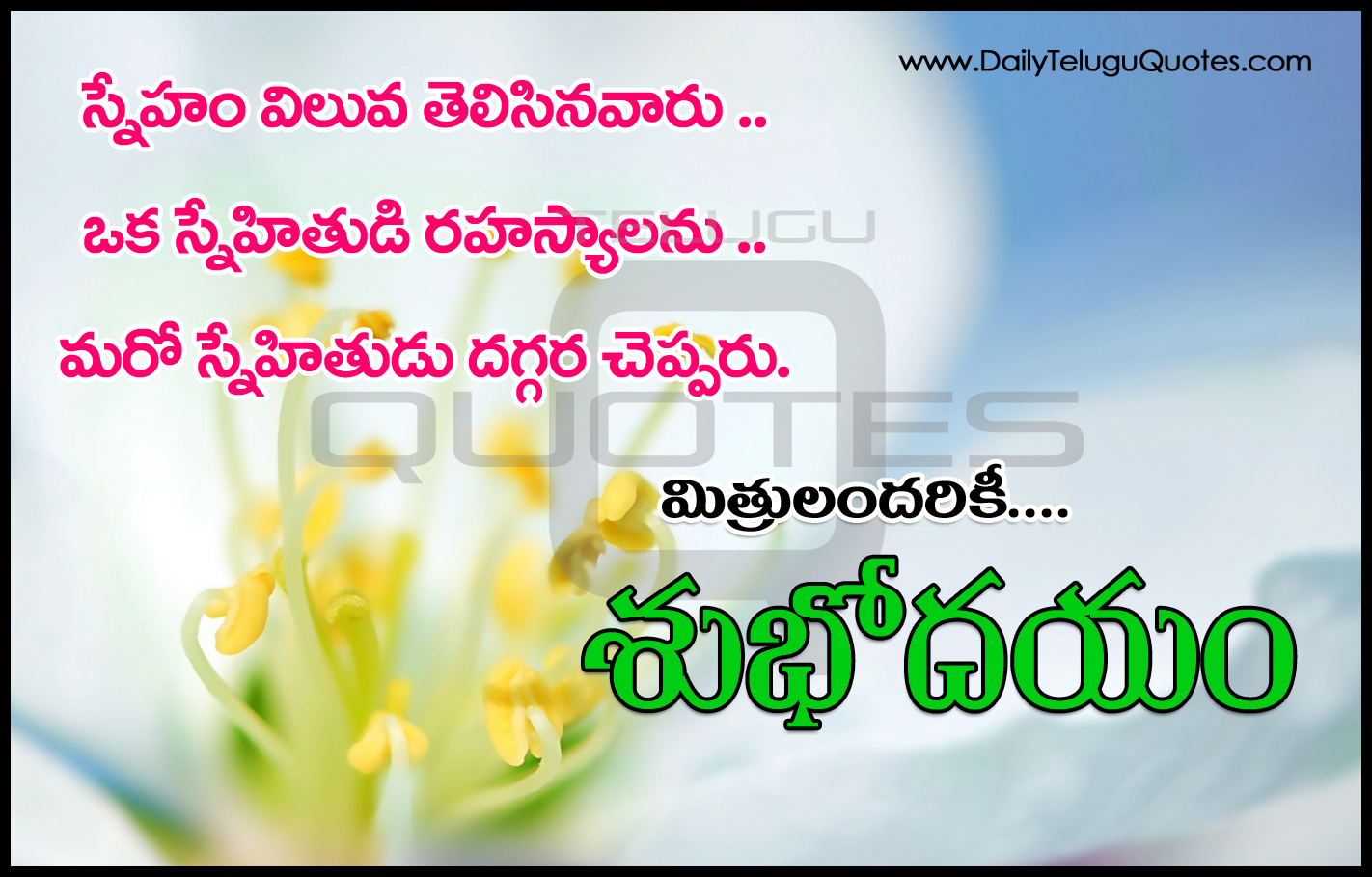 Imágenes De Good Morning Images With Quotes In Telugu Hd