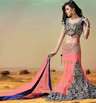 Latest-indian-bridal-lehenga-sarees-2017-with-new-blouse-designs-3