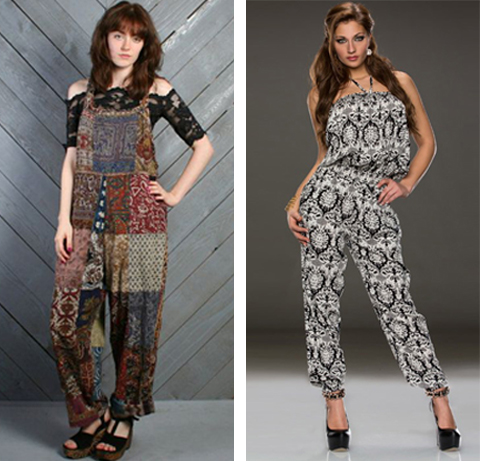 model baju jumpsuit batik