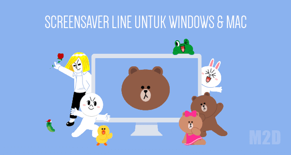 Screensaver LINE (Brown dan Cony)