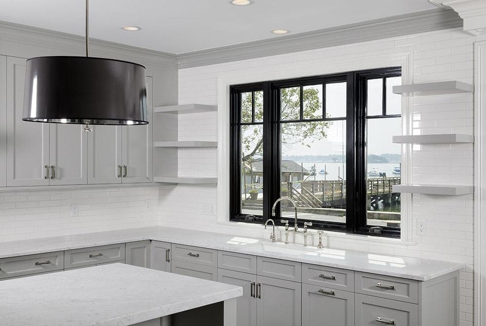 Con el fregadero bajo la ventana cocinas con estilo for Fregaderos de aluminio