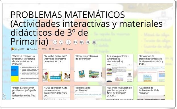 """""""12 Actividades interactivas y materiales didácticos de PROBLEMAS MATEMÁTICOS en 3º de Primaria"""""""