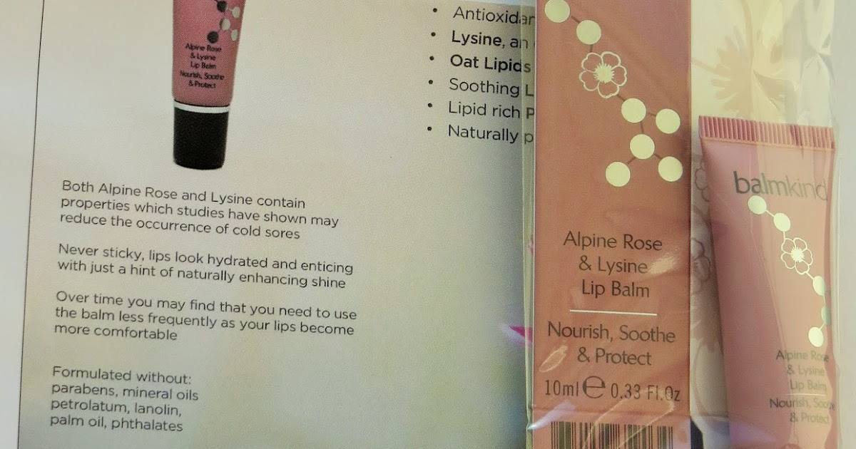 Beauty Balm: balmkind: Alpine Rose & Lysine Lip Balm