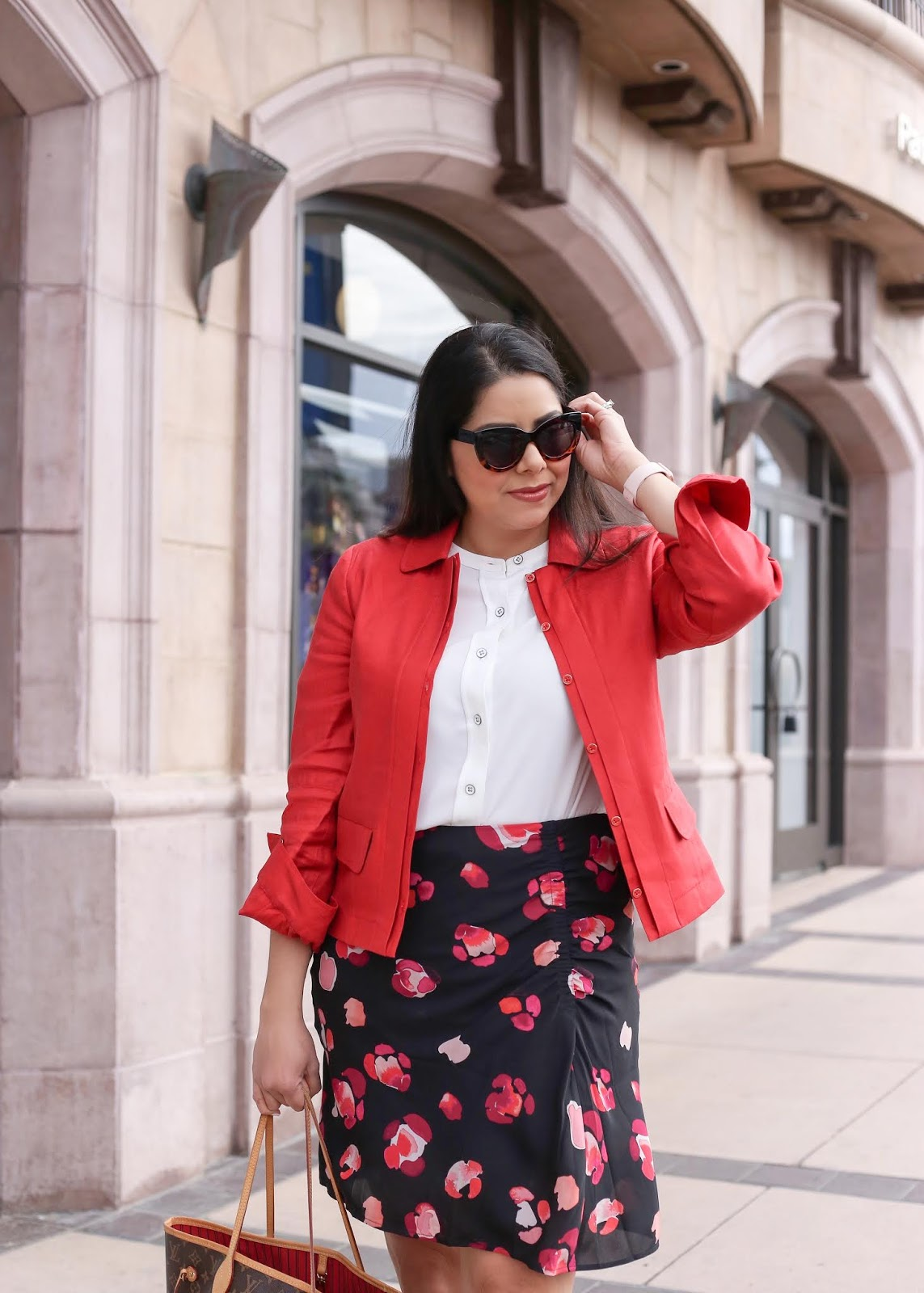 red blazer, how to wear a red blazer, cabi valentine blazer