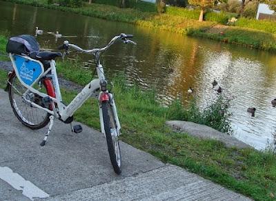 Bicicleta electrica azul