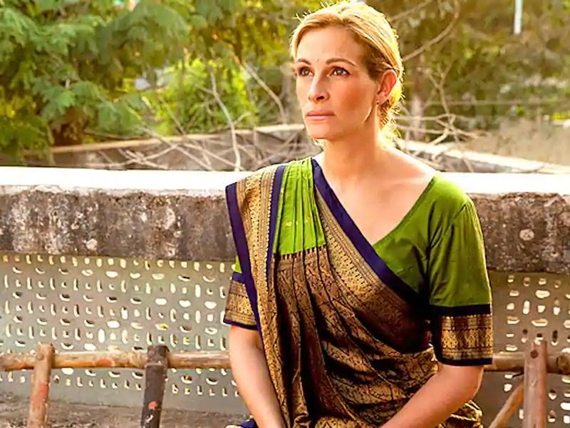 Julia Roberts wore the saree in the film Eat Pray Love.