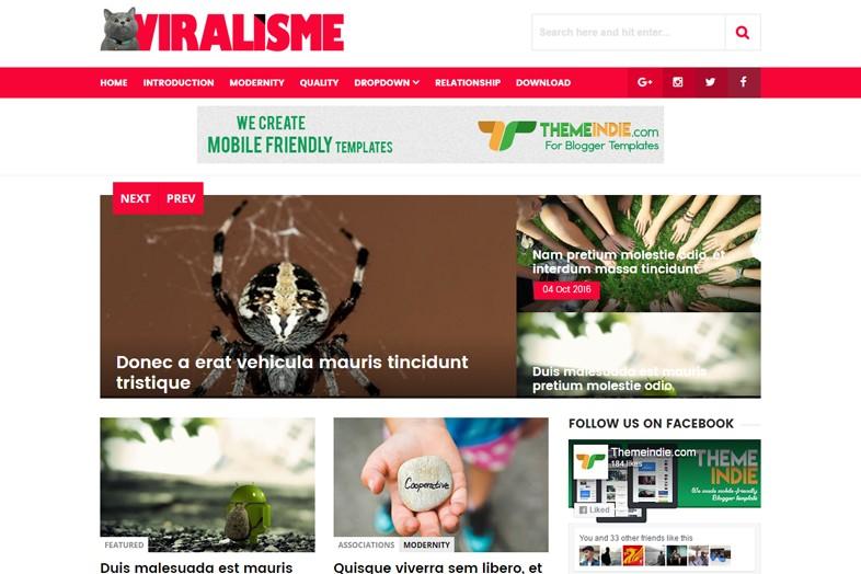 Viralisme Blogger template