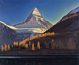 Mount Assiniboine. Canadian Rockies by Rockwell Kent - Landscape Paintings from Hermitage Museum