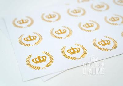 adesivo coroa provençal realeza