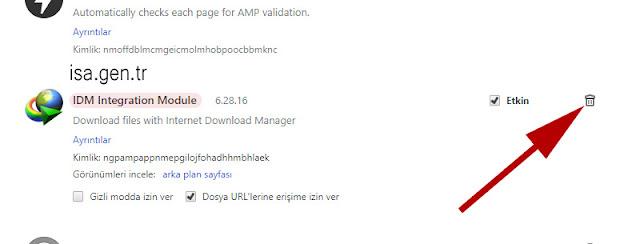 IDM Integration Module kaldırma