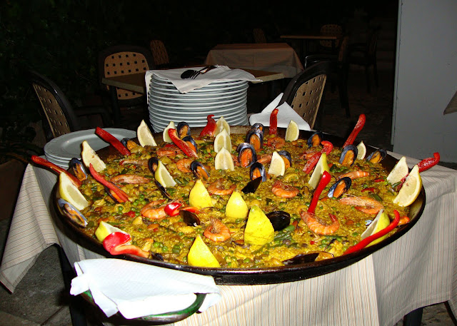 If you are planning some cycling in Spain, try a Paella, the national dish
