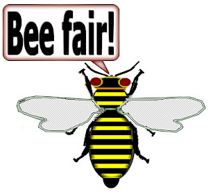 "Click image for imprinting ""Bee Says"" items on T-shirts, mugs, and more!"