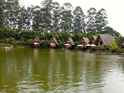 Dusun Bambu Scenic Lake Bandung Indonesia