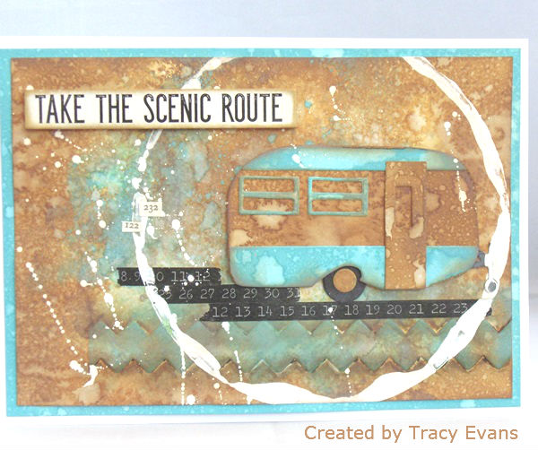 Sizzix Travel Trailer with Distress Oxides Technique by Tracy Evans