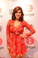 Mannara Chopra in deep neck Short red sleeveless dress Cute Beauty ~  Exclusive Celebrities Galleries 082.JPG