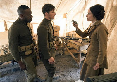 Timeless Season 2 Abigail Spencer, Malcolm Barrett and Matt Lenter Image 3